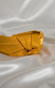 Yellow Luxury Satin BAE Knotted Headband by Farrow Low