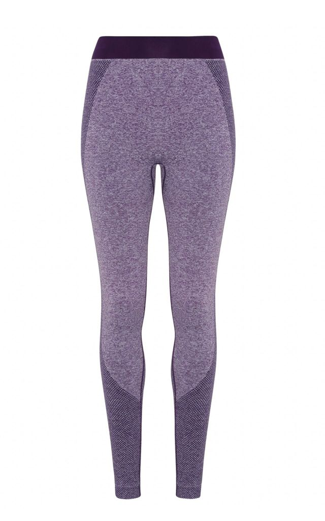 Seamless Bum Lift Sculpting Leggings - Purple by Hortons England