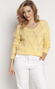 Loose Asymmetric Jumper in Yellow by MKM Knitwear Design