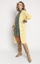 Loose Long Cardigan in Yellow by MKM Knitwear Design