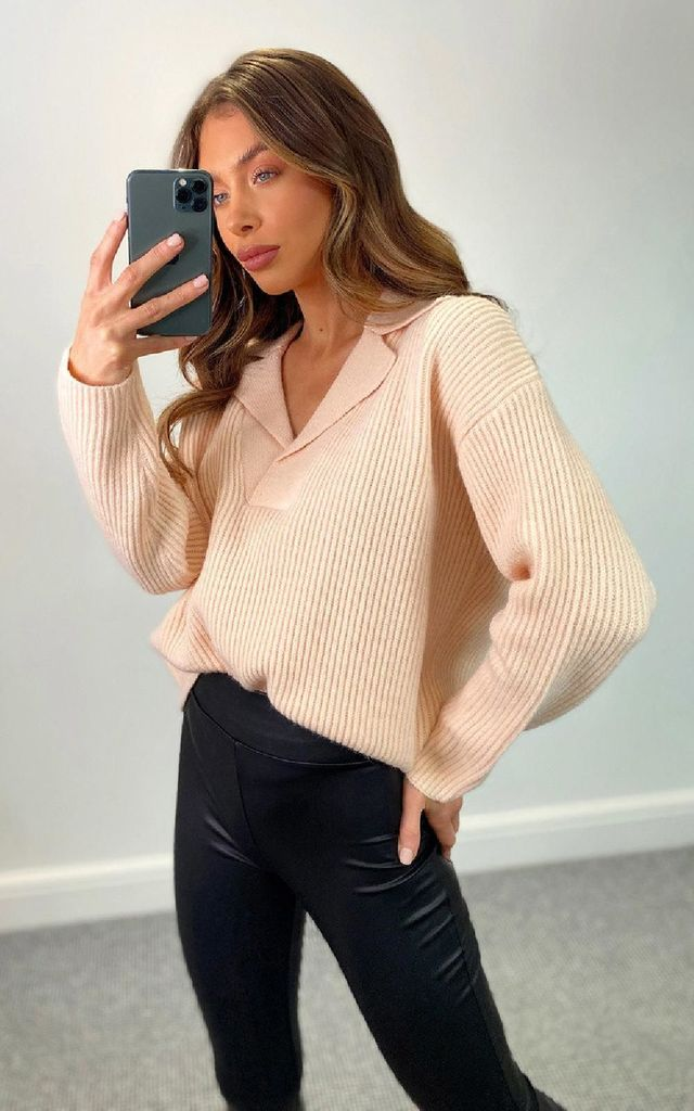 Chi Chi Knitted Top in Rose by IKRUSH