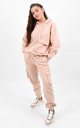 Peach Pocket Detail Sweat Hoodie & Cargo Joggers Co-ord by Boutique Store