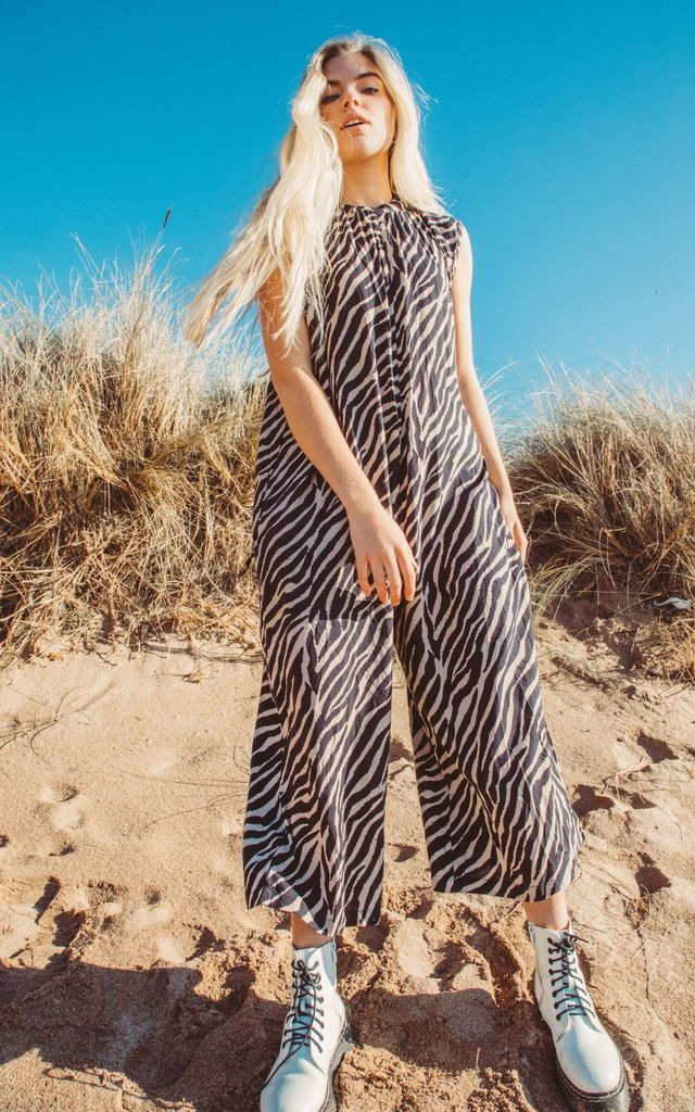 Zillie Zebra Jumpsuit by Out of the Ordinary