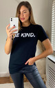 Be Kind Slogan T-Shirt In Black by Aftershock London
