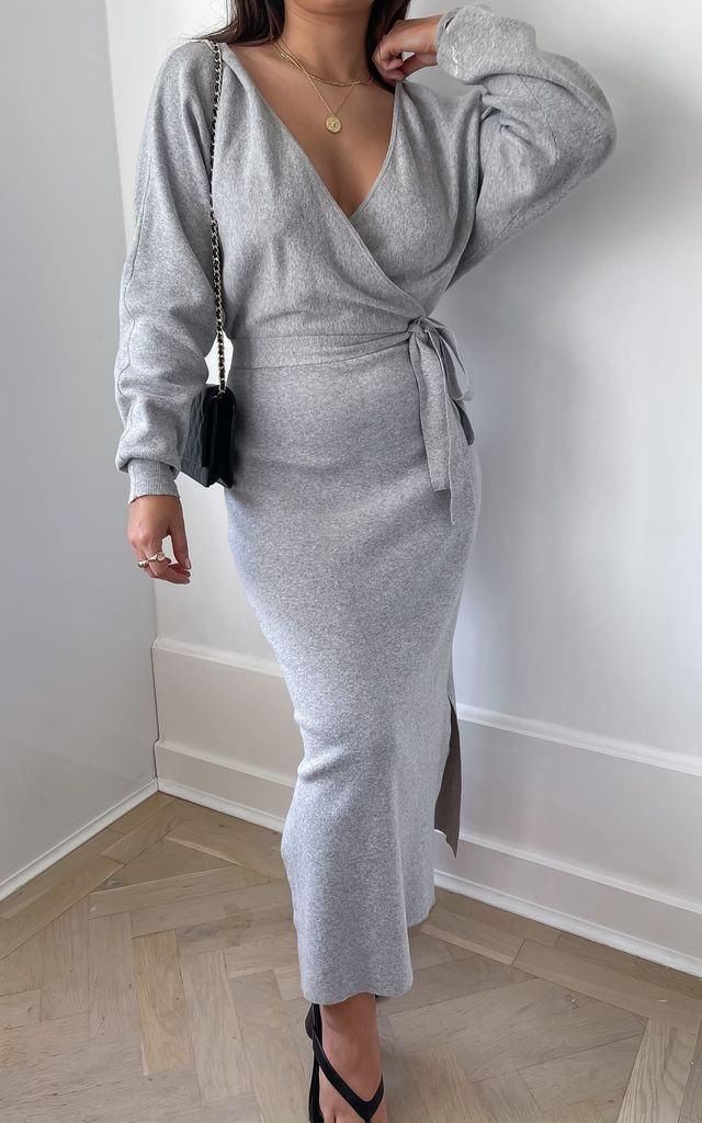 The Daphne Dress Grey by Silks and Stars