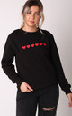 Jumper in Black with Red Hearts by Lime Blonde