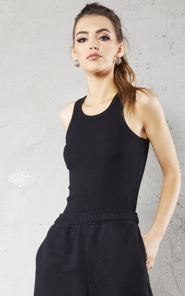 Black Ribbed Vest Top by Call Me Eden
