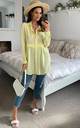 Oversized Long Sleeve Relaxed Fit Shirt in Yellow by HOXTON GAL