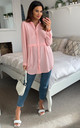 Oversized Long Sleeve Relaxed Fit Shirt in Pink by HOXTON GAL
