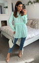 Oversized Long Sleeve Relaxed Fit Shirt in Mint Green by HOXTON GAL