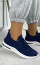 Elaina Knitted Trainers in Navy by Larena Fashion