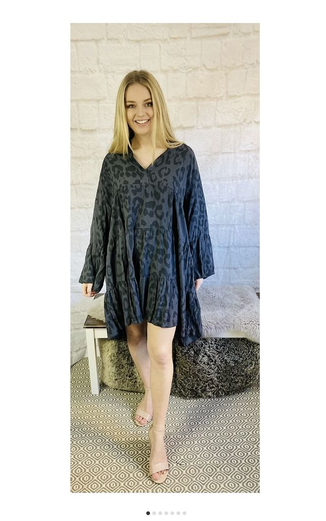 Flare Smock Dress in Leopard Print by Pink Lemonade Boutique