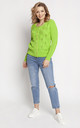 Classic Cardigan in Green by MKM Knitwear Design