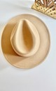 Classic sandy nude fedora hat by Kate Coleman