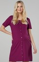 Women's Maternity Breastfeeding Nightdress for Labour in Plum by Chelsea Clark
