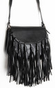 Black Cross Body Satchel Hand Bag by Tabitha Rose