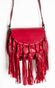 Red Cross Body Satchel Hand Bag by Tabitha Rose