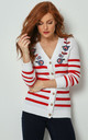 Joe Browns Nautical Stripe Knitted Cardigan by Joe Browns