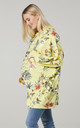 Women's Maternity Flower Print Long Sleeve Hoodie in Yellow by Chelsea Clark
