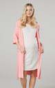 Women's Maternity Breastfeeding Nightdress With Dressing Gown Pink by Chelsea Clark