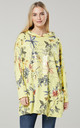 Women's  Flower Print Long Sleeve Hoodie in Yellow by Chelsea Clark