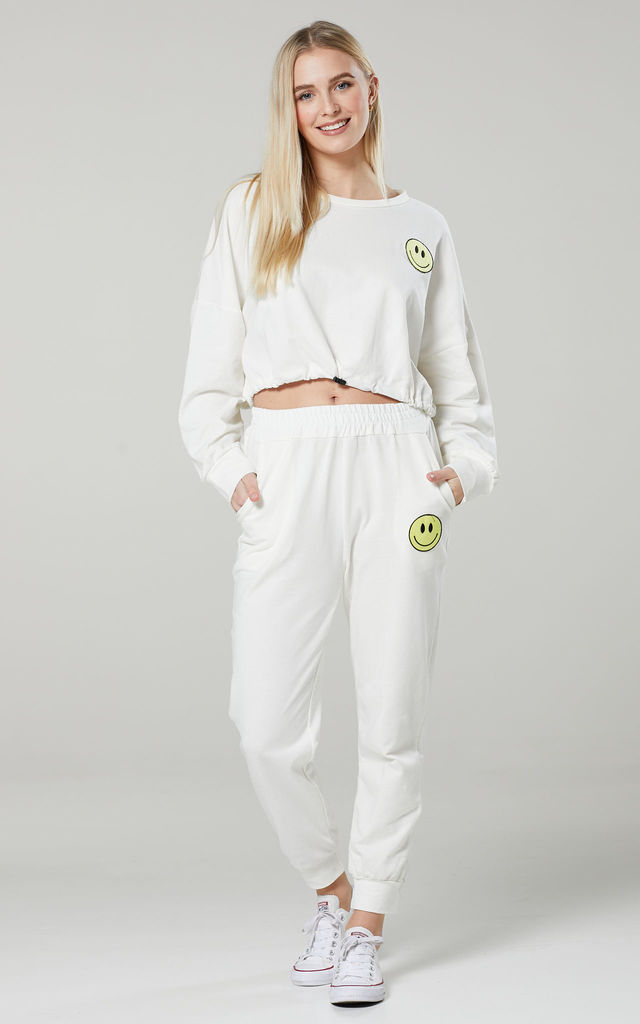 Women's Casual Tracksuit Set in White by Chelsea Clark