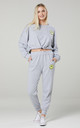 Women's Casual Tracksuit Set in Grey Melange by Chelsea Clark