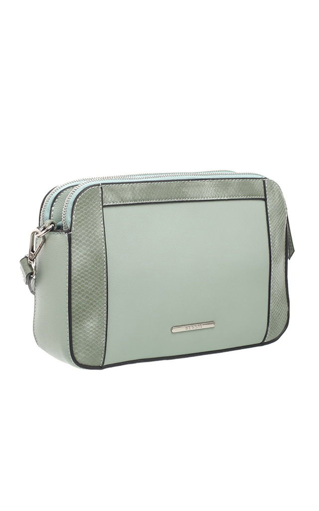 MULTI COMPARTMENT CAMERA BAG GREEN by BESSIE LONDON