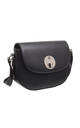 CLASSIC FLAP OVER SADDLE BLACK by BESSIE LONDON