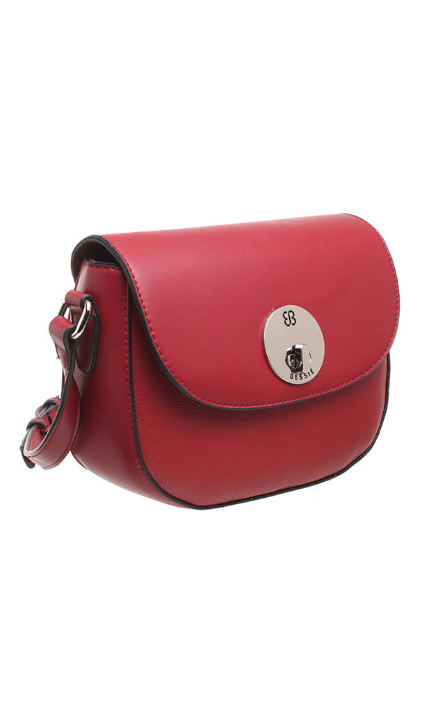 CLASSIC FLAP OVER SADDLE RED by BESSIE LONDON