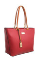 LARGE TWO TONE SHOPPER RED by BESSIE LONDON