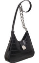 SMALL CROC PRINT CROSS BODY BAG BLACK by BESSIE LONDON