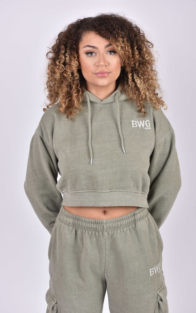 """Just Sage"" Crop Hoodie by Big Wide Grin"