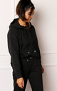 ONLY Zoey Organic Cotton Hoodie in Black by One Nation Clothing