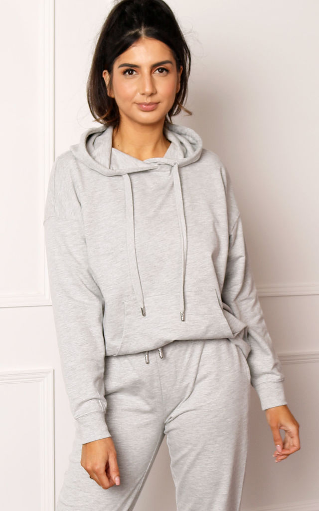 ONLY Zoey Organic Cotton Hoodie in Grey Melange by One Nation Clothing