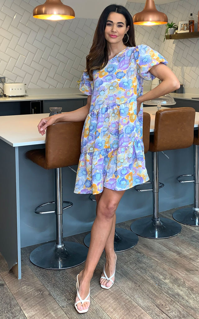Alia Puff Sleeve Smock Dress by Blue Vanilla