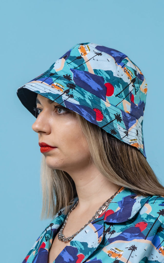 Bobby Combi Print Cotton Unisex Bucket Hat by Krissyfied Boutique