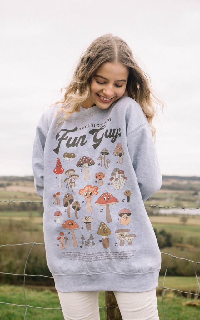 Fun Guys Women's Mushroom Guide Sweatshirt by Batch1