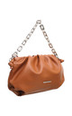 URBAN RING CHAIN TOP HANDLE CROSS BODY BAG BROWN by BESSIE LONDON