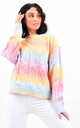 Pastel Multi Colour Cable Knit Longsleeve Jumper by Boutique Store