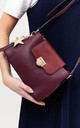 FLAP OVER CROSSBODY WITH TASSEL HANGING DROP RED by BESSIE LONDON