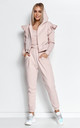 Elegant Tracksuit with Frill and Hoodie in Powder Pink by Makadamia