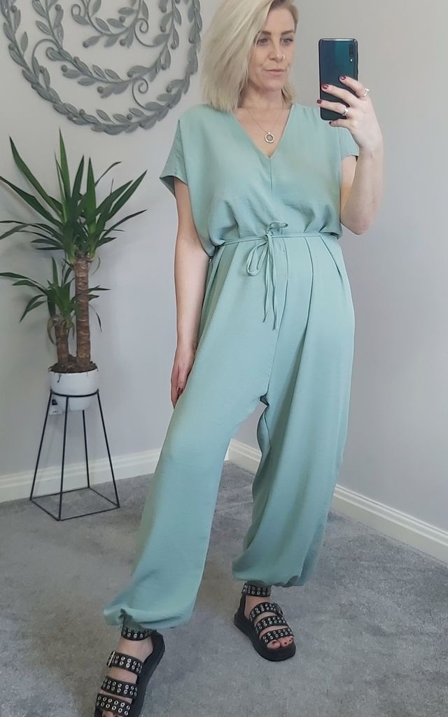 Sage Green Wide Leg Jumpsuit by FOXY FROX