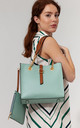 TWO TONE SHOULDER BAG by BESSIE LONDON
