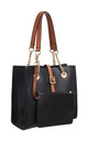 TWO TONE SHOULDER BAG BLACK by BESSIE LONDON