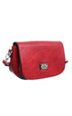 MULTI COMPARTMENT FLAP OVER SADDLE BAG RED by BESSIE LONDON