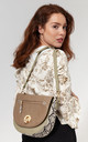 SNAKE PRINT FLAP OVER CROSS BODY by BESSIE LONDON