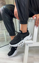 Azize Sock Sneakers in Black by Larena Fashion