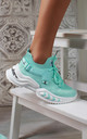 Azize Sock Sneakers in Mint by Larena Fashion