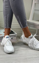 Azize Sock Sneakers in White by Larena Fashion